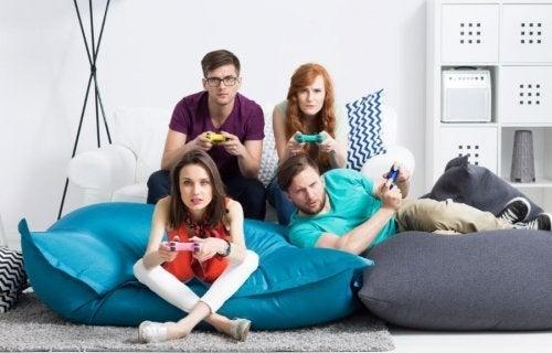 familia que não quer largar os videogames