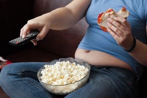 A falta de atividade física causa obesidade