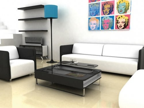 Escolha móveis vistosos ao decorar um ambiente