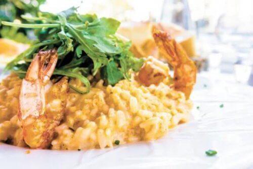 Receita de arroz cremoso com camarão