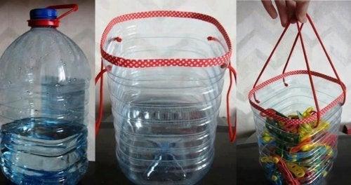 Cestos para pregador de roupa com embalagens de plástico