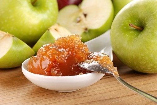 Geleia caseira sem açúcar de maçã