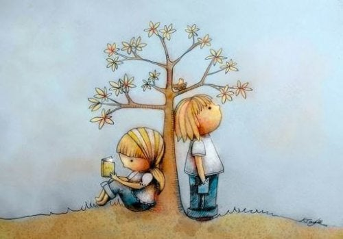 Pintura de crianças pequenas