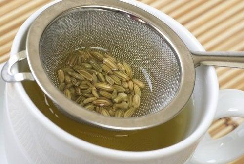 Infusão com sementes de erva-doce contra as cólicas em bebês