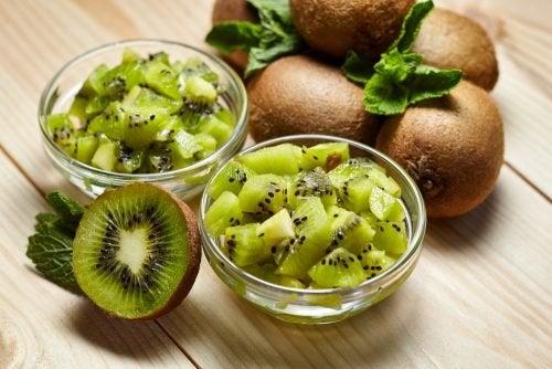 Dieta contra anemia: kiwi