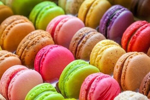 Macarons de Bilbao coloridos