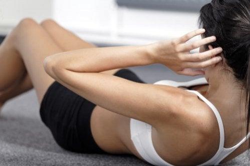 Exercícios rápidos de abdominais