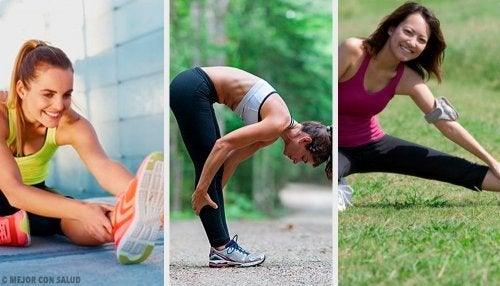 Mulher com flexibilidade nas pernas
