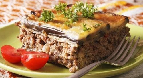 Mussacá grega com carne