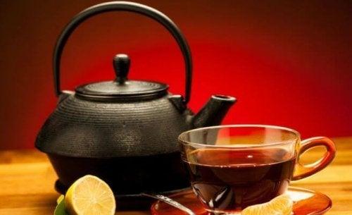 Remédios com chá preto