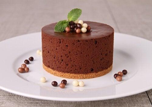 Receita caseira de mousse de chocolate
