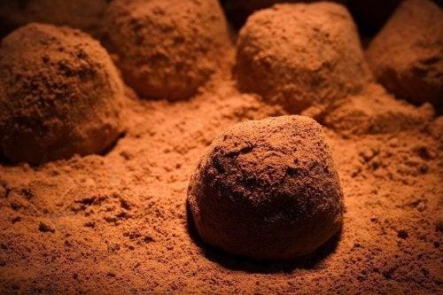 Deliciosas trufas de chocolate