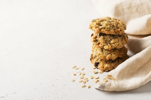 Biscoitos de aveia sem açúcar nem manteiga