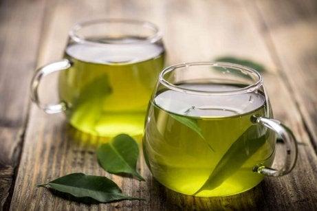Infusão de chá verde