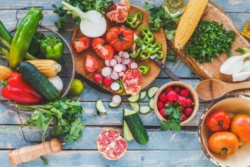 Alimentos vegetais na dieta