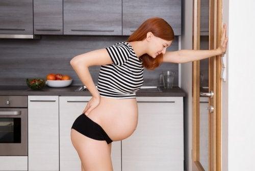 Grávida prestes a ter o bebê