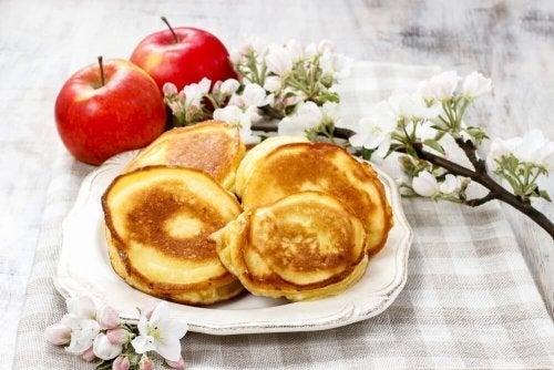 Panquecas de castanhas e maçã