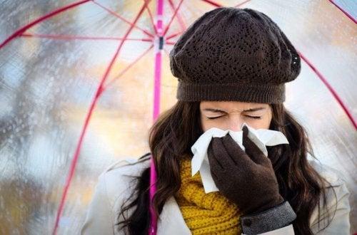 Evitar um resfriado no inverno