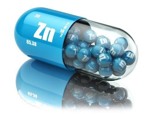 Suplementos ricos em zinco