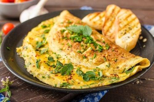 Tortilha de espinafre