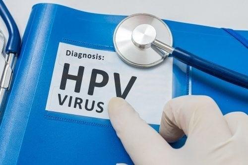 """Cartaz com a inscrição """"diagnóstico HPV"""""""