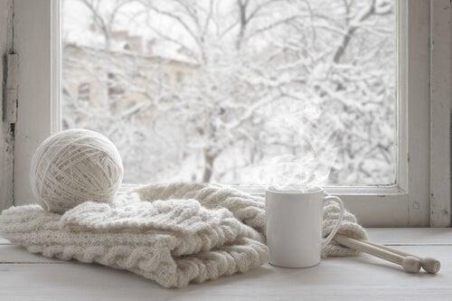 Roupa de lã para o inverno