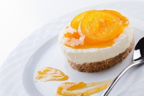 Cheesecake de piña colada para celíacos