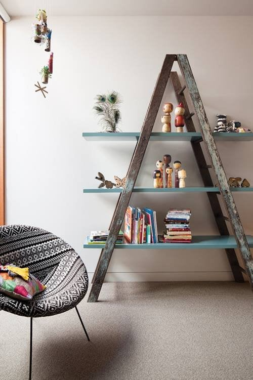Recicle uma escada velha em escadas decorativas