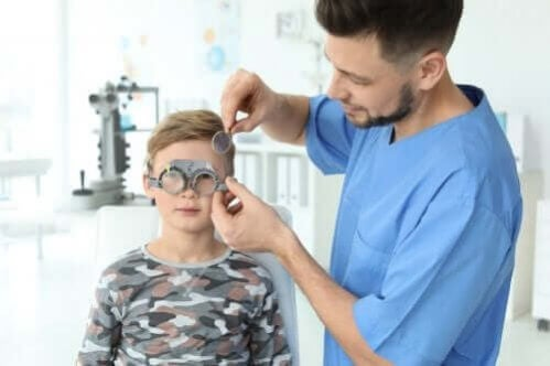 Problemas de visão em crianças pequenas