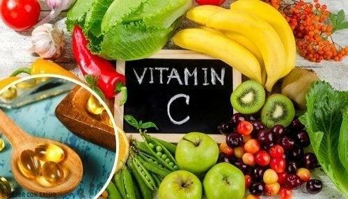 Frutas com vitamina C