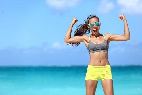 Mulher com musculos