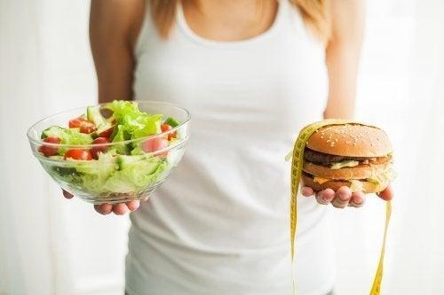Escolha saladas em lugar de fast food