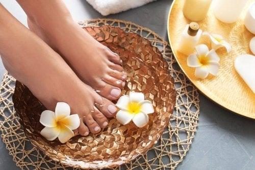 Banho para os pés
