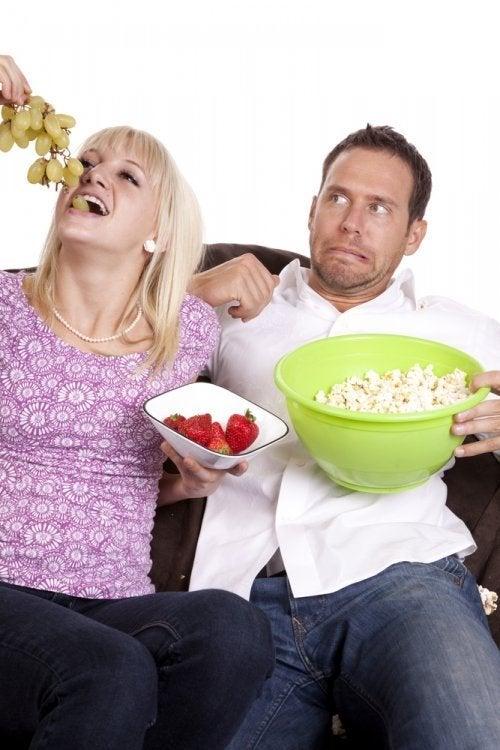 Diferentes hábitos alimentares: o meu parceiro e eu não gostamos dos mesmos pratos
