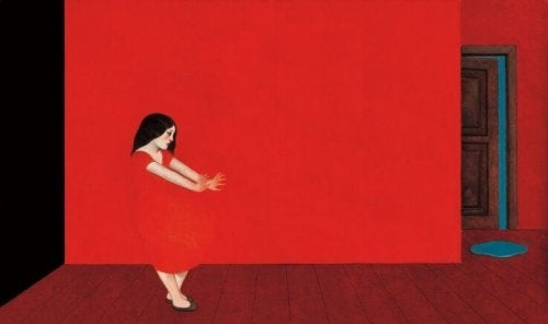 Pintura de cor vermelha