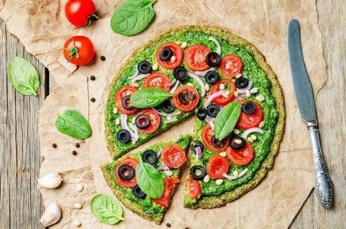 Pizza com azeitonas