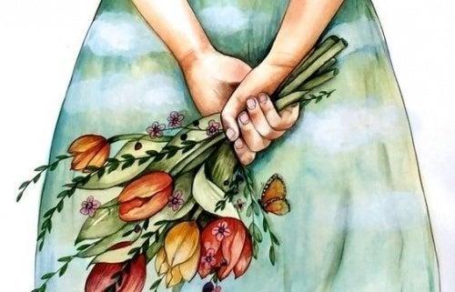 Flores do buquê de casamento