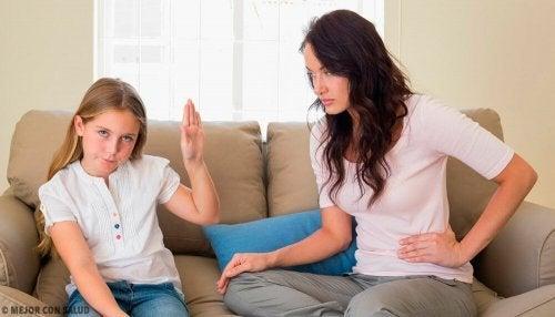 Os filhos não escutam os pais