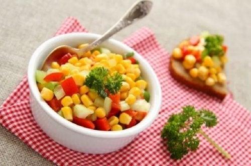 Salada com milho