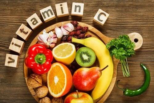 Alimentação com vitaminas