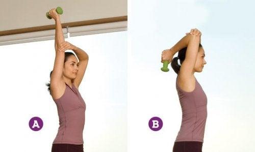 Extensão do tríceps para braços mais tonificados