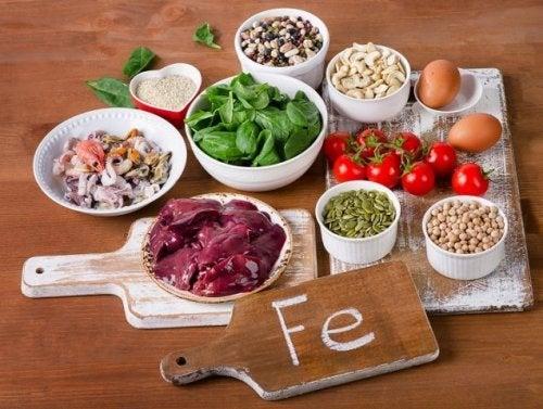 Alimentos ricos em Ferro na dieta para tratar a anemia