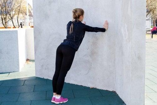 Flexões na parede
