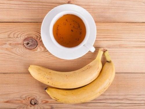 Infusão de folhas de bananeira
