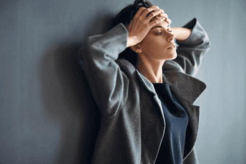 Mulher com ansiedade