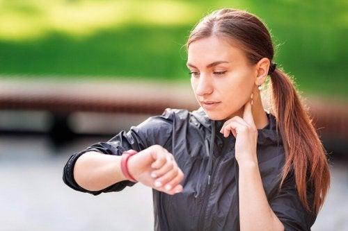 Controle dos batimentos cardíacos durante o exercício
