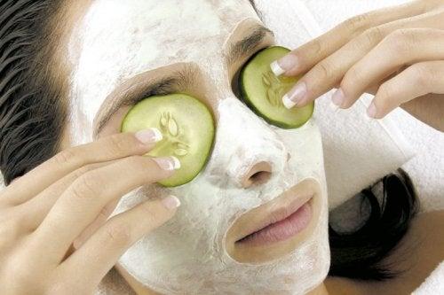 Máscara facial de pepino