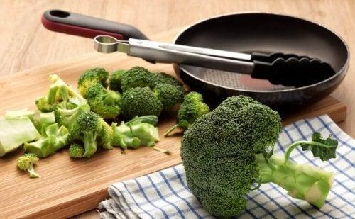 Brócolis para tortilha