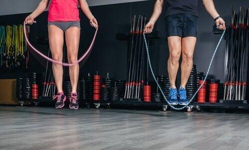 Exercícios de pular corda