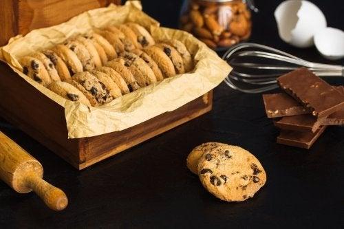 Receita de cookies de chocolate com amêndoas